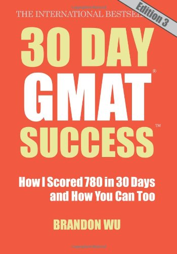 30 Day Gmat Success, Edition 3  N/A 9780983170167 Front Cover