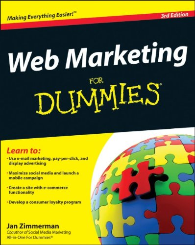Web Marketing for Dummies  3rd 2012 edition cover