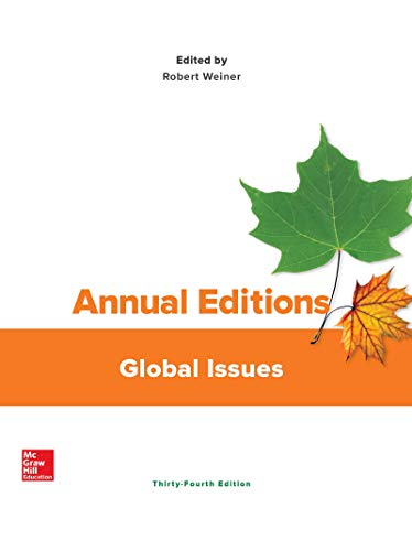 Annual Editions: Global Issues  34th 2020 9781260494167 Front Cover