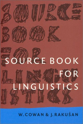 Source Book for Linguistics  3rd 1997 (Revised) edition cover