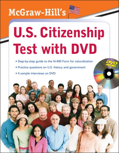 McGraw-Hill's U. S. Citizenship Test with DVD   2009 9780071605168 Front Cover