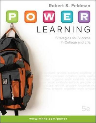 P. O. W. E. R. Learning Strategies for Success in College and Life 5th 2011 edition cover
