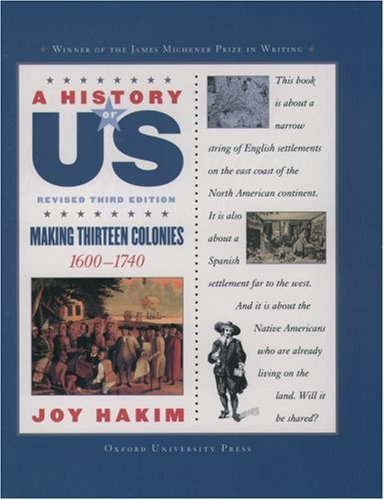 Making Thirteen Colonies, 1600-1740  3rd 2005 (Revised) edition cover