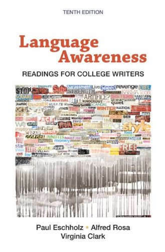 Language Awareness Readings for College Writers 10th 2009 edition cover