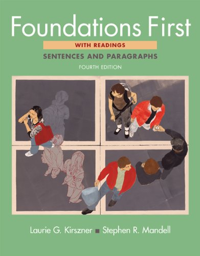 Foundations First with Readings Sentences and Paragraphs 4th 2012 edition cover