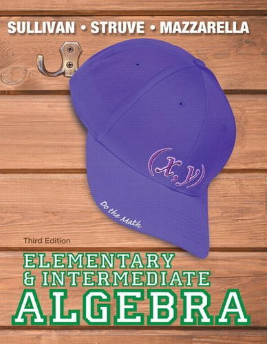 Elementary and Intermediate Algebra  3rd 2014 edition cover