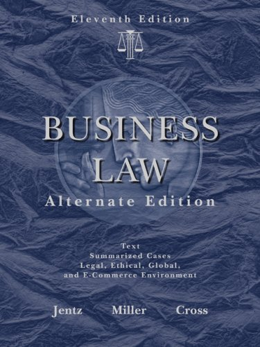 Business Law, Alternate Edition  11th 2010 edition cover