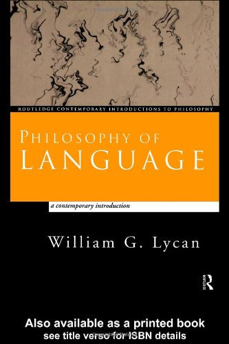 Philosophy of Language Contemporary Introduction  1999 edition cover