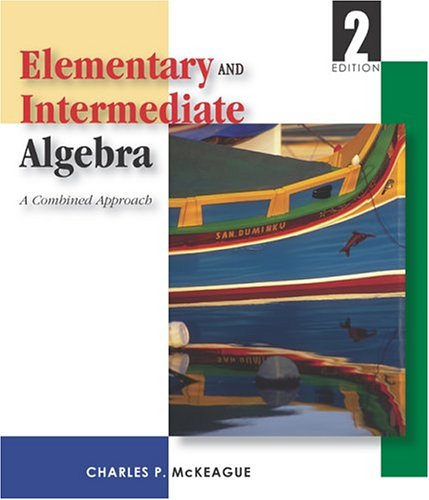 Elementary and Intermediate Algebra  2nd 2004 edition cover
