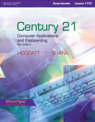 Style Manual for Hoggatt/Shank's Century 21' Computer Applications and Keyboarding, Lessons 1-170, 9th  9th 2010 (Revised) 9780538449168 Front Cover