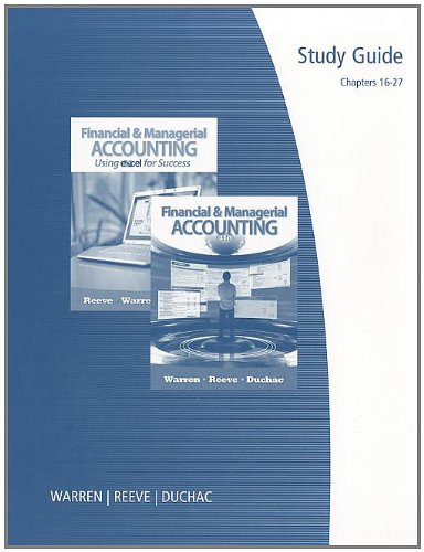 Financial and Managerial Accounting  11th 2012 (Guide (Pupil's)) 9780538481168 Front Cover