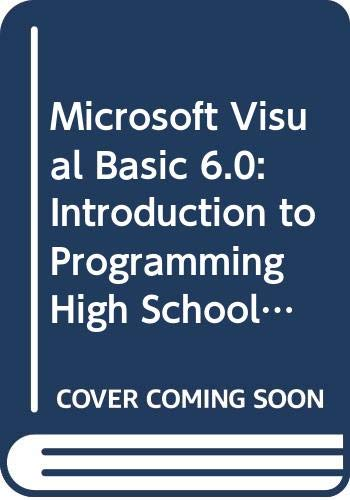 Microsoft Visual Basic 6.0 : Introduction to Programming - Activities Workbook 1st 2000 (Workbook) 9780538689168 Front Cover