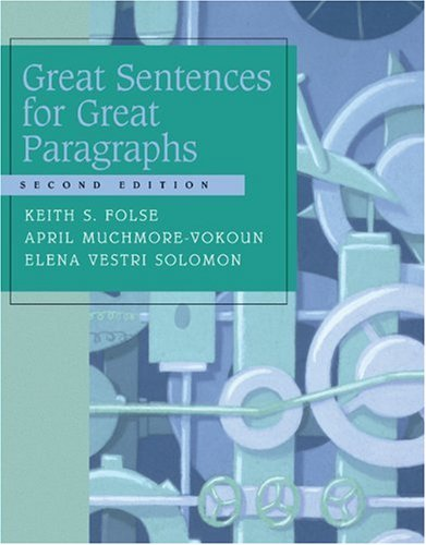 Great Sentences for Great Paragraphs  2nd 2005 9780618444168 Front Cover