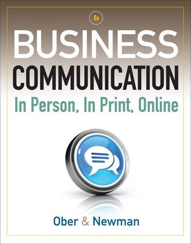 Business Communication In Person, in Print, Online 8th 2013 edition cover