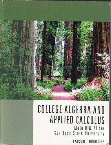 COLLEGE ALGEBRA+APPL.CALC.>CUS N/A 9781133438168 Front Cover