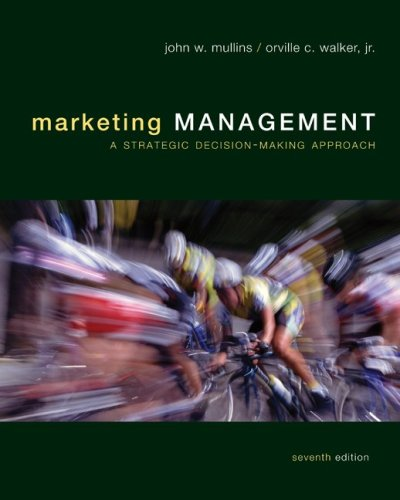 Marketing Management - A Strategic Decision-Making Approach  7th 2010 9780073381169 Front Cover