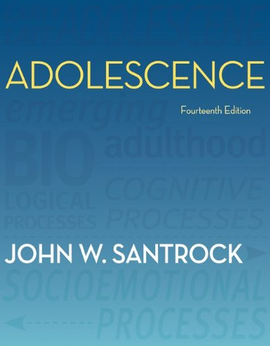 Adolescence  14th 2012 9780078117169 Front Cover