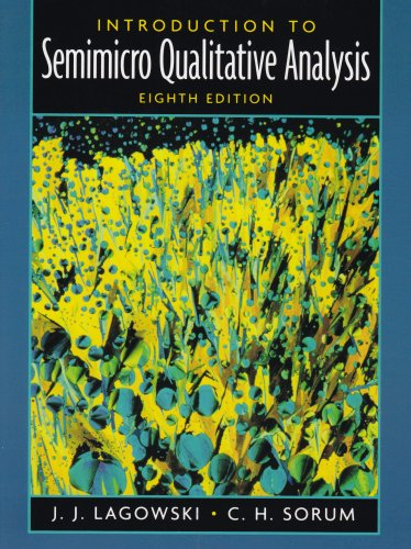 Introduction to Semimicro Qualitative Analysis  8th 2005 (Revised) edition cover