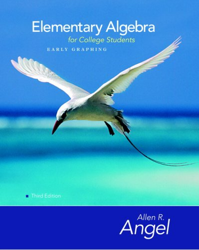 Elementary Algebra Early Graphing for College Students  3rd 2008 edition cover