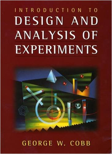 Introduction to Design and Analysis of Experiments   1998 9780470412169 Front Cover