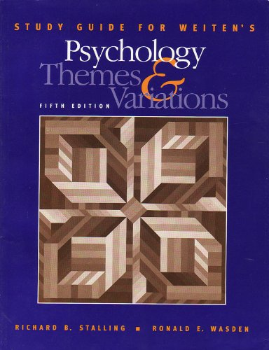 Psychology : Themes and Variations 5th 2001 (Student Manual, Study Guide, etc.) 9780534367169 Front Cover