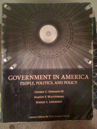 GOVERNMENT IN AMERICA    >CUSTOM<       N/A 9780536459169 Front Cover