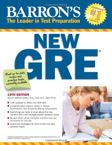 Barron's New GRE  19th 2011 (Revised) edition cover