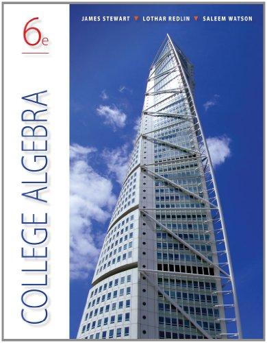 College Algebra  6th 2013 edition cover