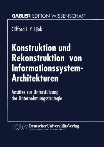 Konstruktion und Rekonstruktion Von Informationssystem-Architekturen   1996 9783824463169 Front Cover