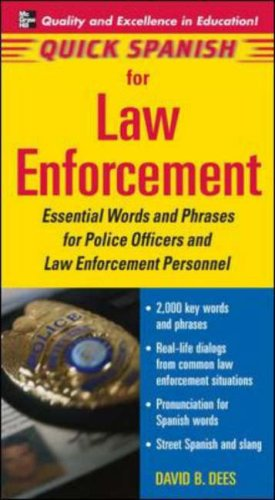 Law Enforcement Essential Words and Phrases for Police Officers and Law Enforcement Personnel  2006 edition cover