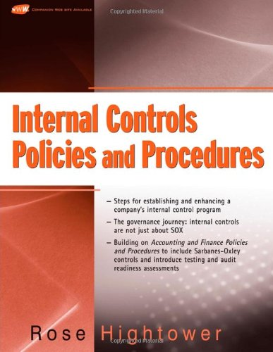 Internal Controls Policies and Procedures   2008 edition cover