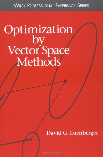 Optimization by Vector Space Methods   1997 edition cover