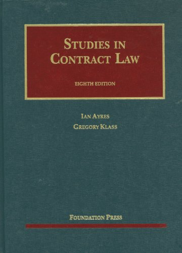 Studies in Contract Law  8th 2012 (Revised) edition cover