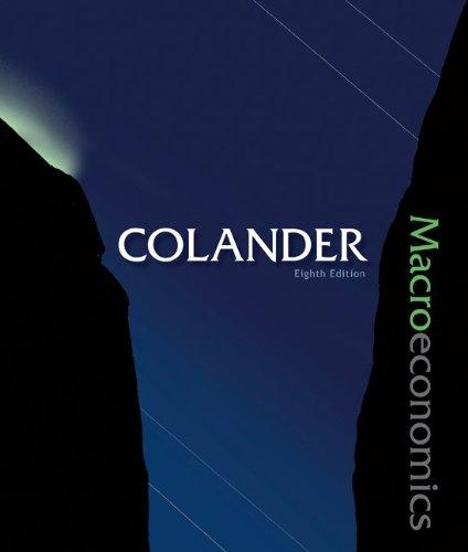 Macroeconomics  8th 2010 edition cover