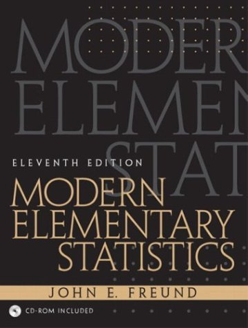 Modern Elementary Statistics  11th 2004 edition cover