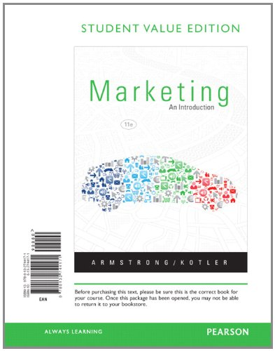 Marketing An Introduction, Student Value Edition 11th 2013 9780132744171 Front Cover