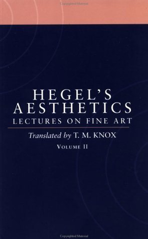 Hegel's Aesthetics Lectures on Fine Art   1998 (Reprint) edition cover