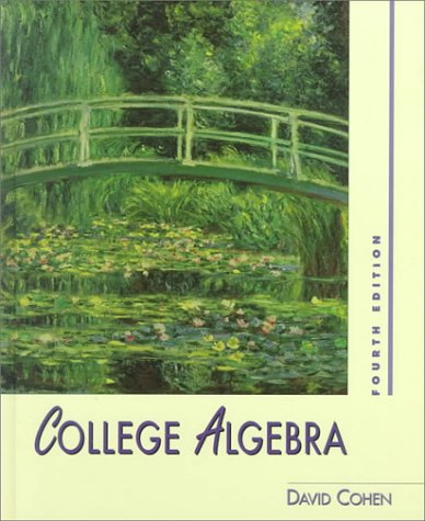 College Algebra  4th 1996 9780314061171 Front Cover