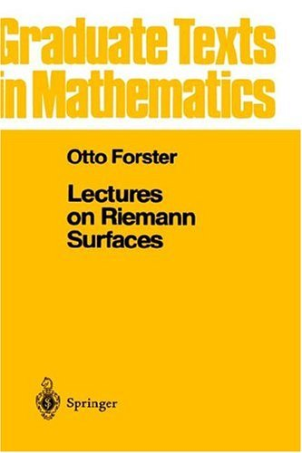 Lectures on Reimann Surfaces   1981 (Reprint) edition cover