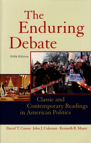 Enduring Debate Classic and Contemporary Readings in American Politics 5th 2008 edition cover