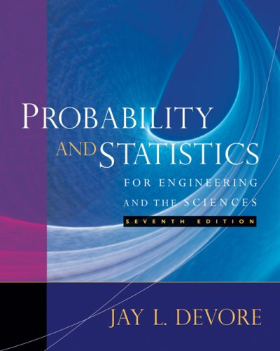 Probability and Statistics for Engineering and the Sciences  7th 2008 edition cover