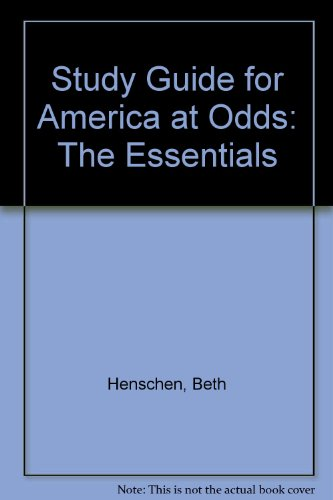 America at Odds : Essentials 2nd 1999 9780534560171 Front Cover
