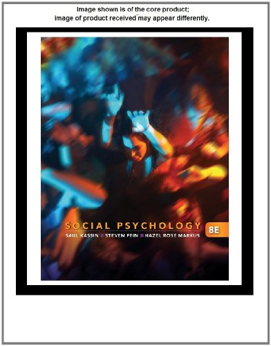 Social Psychology  8th 2011 edition cover