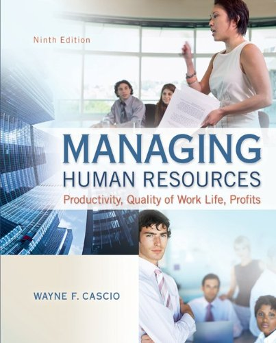 Managing Human Resources  9th 2013 edition cover
