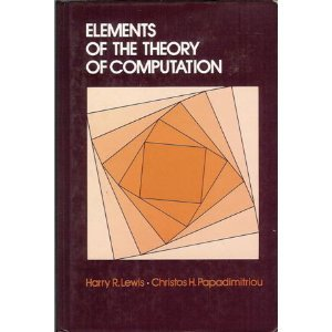 Elements of the Theory of Computation   1981 edition cover