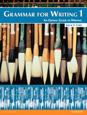 Grammar for Writing 1 (Student Book with Proofwriter)  2nd 2012 9780132862172 Front Cover