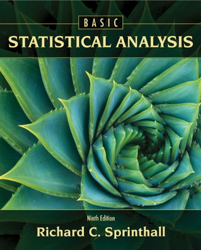 Basic Statistical Analysis  9th 2011 9780205052172 Front Cover