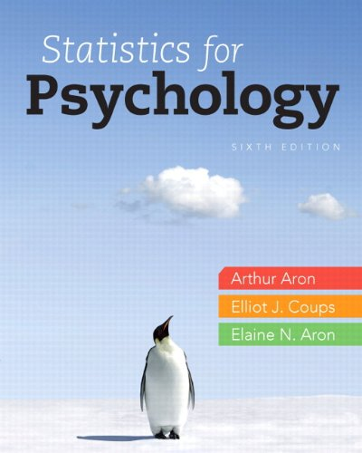 Statistics for Psychology  6th 2013 edition cover