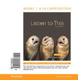 Listen to This, Books a la Carte Edition  3rd 2015 edition cover