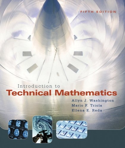 Introduction to Technical Mathematics  5th 2008 (Revised) 9780321374172 Front Cover
